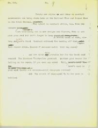 Script for the newsreel segment.
