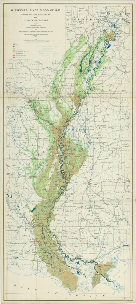 RG 23 Mississippi Flood Map 1927 NAID 2436794