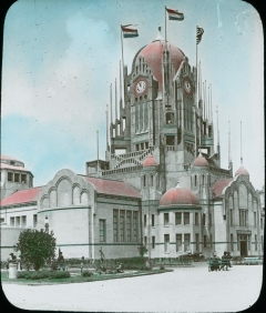 Photograph of the Netherlands National Building at the Panama-Pacific International Exposition, 1915. Local ID: 16-SFX-17.