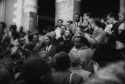 Dr. King at Brown Chapel A.M.E. Church.