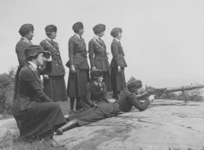 Women's Machine Gun Squad Police Reserves, New York City. 165-WW-143-B22