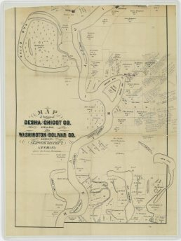 Annotated Map of Portions of Desha and Chicot Counties, Arkansas, and Washington and Bolivar Counties, Mississippi, Skipwith District., Part 1