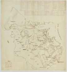 RG 56 Map showing the position of Government Farms, 1st District Negro Affairs, Department of Virginia and North Carolina