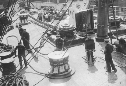 Deck scene on the S.S. Lusitania. 165-WW-537F-7