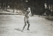 One-armed baseball team, Walter Reed Hospital. Pitcher. 165-WW-255A-45