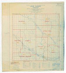 1950 E.D. Map Loup County, Nebraska