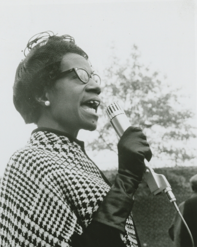 Shirley Chisholm, shortly after her election to Congress in 1968. (306-PSC-68-3539)