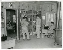 "35-GE-1E-16 ""The library is an important feature of every CCC camp."""