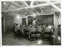 "35-GE-1G-2 ""Class II CCC enrollees attending class in project mathematics. SCS-4, Sebastopol, Calif. John Clark, SCS personnel."""