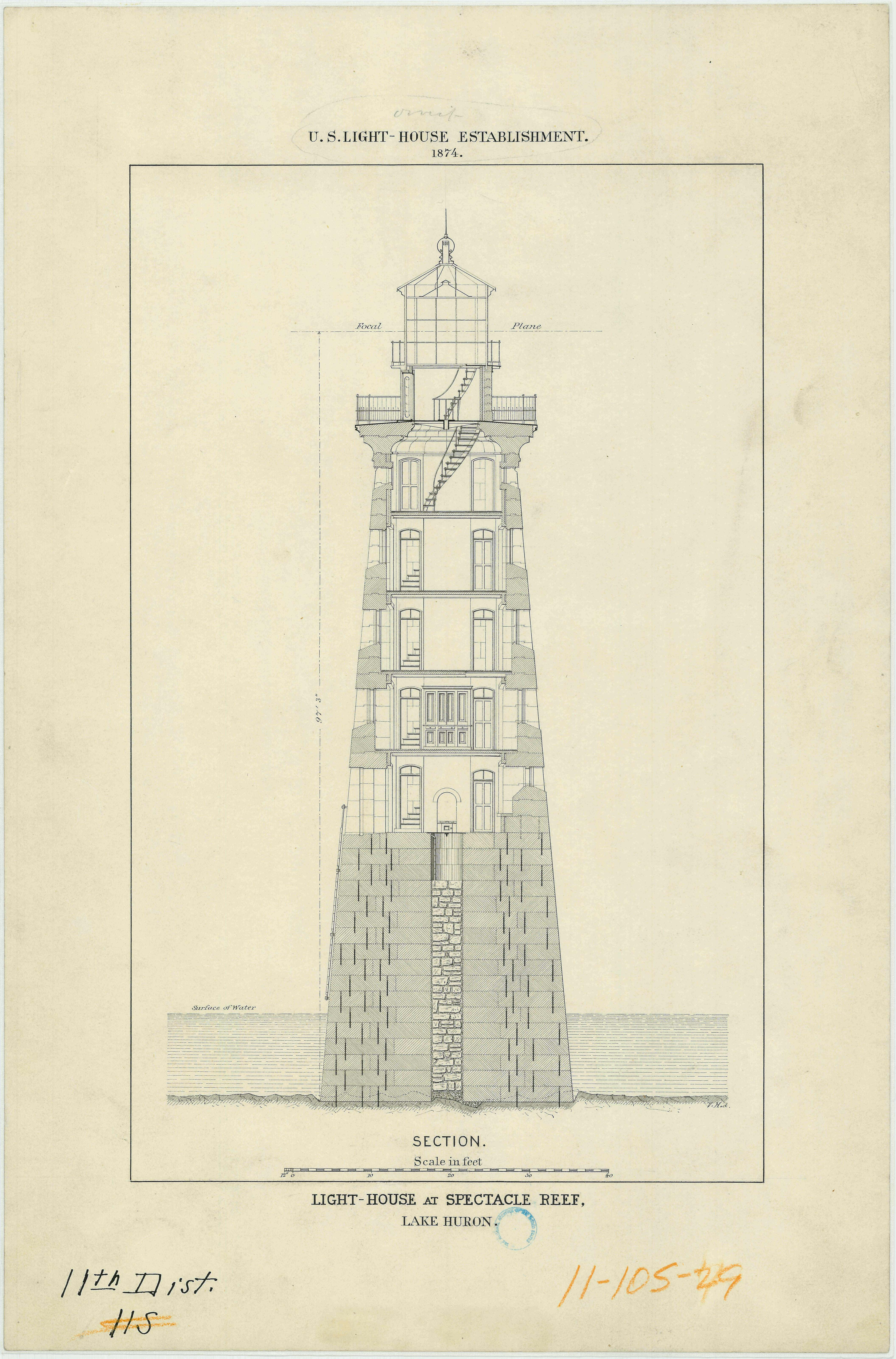 Lighthouse drawings in celebration of national lighthouse for Lighthouse blueprints plans