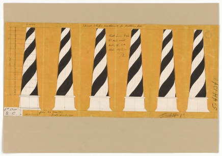 RG26: Lighthouse Plans; NC, Cape Hatteras; #57. Drawing Showing the Spiral Stripes Design for the Lighthouse at Cape Hatteras, North Carolina, 1873. https://catalog.archives.gov/id/6281523