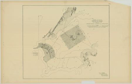 RG26: Lighthouse Plans; WA, Destruction Island; #1. Plan for proposed light station, 1887.