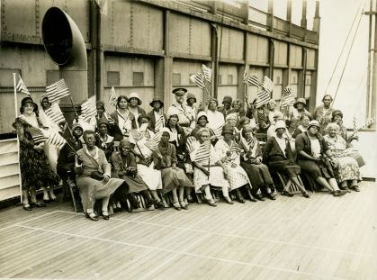 """Original Caption: """"Party """"K"""" - Sailed July 10, 1931."""" Local ID: 92-GS-224."""