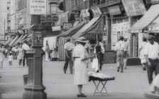 "Harlem street scene. Still from outtakes from ""Metropolis."""