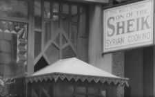 "Syrian restaurant ""Son of the Sheik."" Still from outtakes from ""Metropolis."""