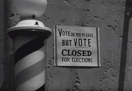 In the fictional town of Riverton, all businesses and schools are closed for election day.