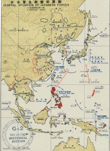 Vol. 2, Plate 163: General Situation of Japanese Forces, 1 August 1945 (completed map)