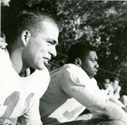 Original Caption: Negro and white football players at McKinley Technical High School. Local ID: 306-PS-515-S-54-16145