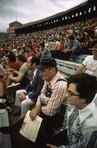Spring football game at the University of Nebraska, May 1973. Local ID: 412-DA-4947.