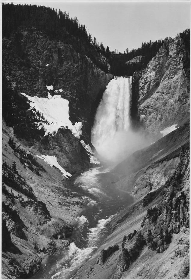 Yellowstone Falls, Yellowstone National Park, Wyoming. 79-AAT-3