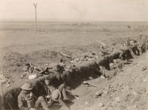 Original Caption: Trenches where American soldiers started to dig in on the first night of the St. Mihiel drive and then they went 5 kilos further. Beney is seen in the center in the distance. Near Beney, Meuse, France. September 25, 1918. Local Identifier: 111-SC-25287