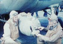 Ensign Grant W. Teats adn ARM 2nd Class Hollis Martin
