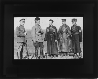 Local Identifier: FLAX-GZ-18- Colonel Stanislav Bulak-Balakhovich (center) and his commanders.