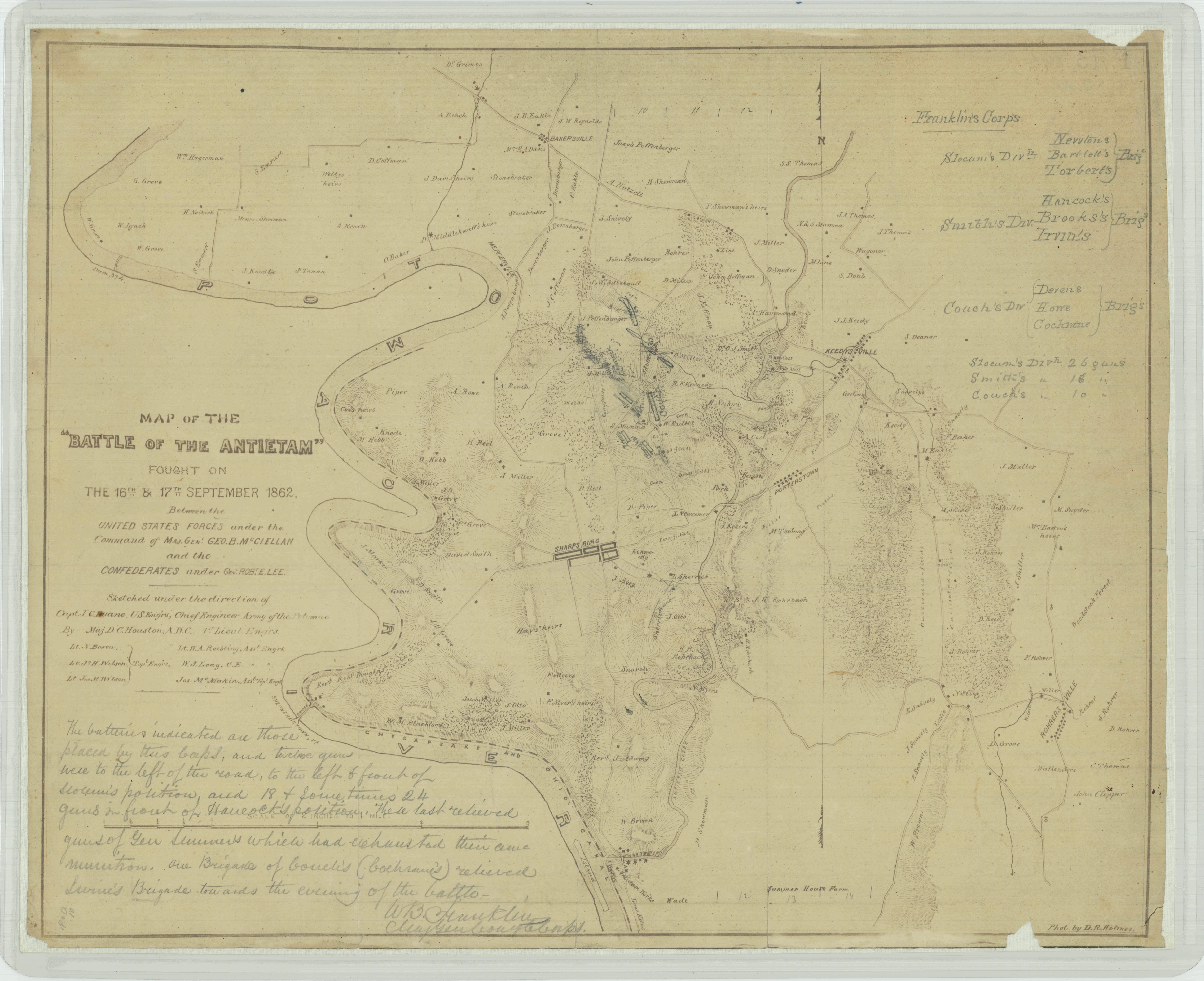 Mapping The Civil War Antietam And South Mountain The Unwritten - Antietam us map