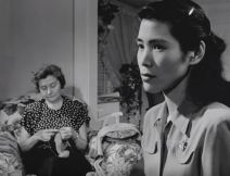 Japanese war bride Miwako feels isolated as she adjusts to life in the United States. (Still from Japanese Bride in America)