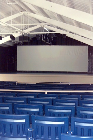 Shot of the interior of the outdoor movie theater located at Naval Station Diego Garcia. (330-CFD-DF-SD-02-04433)